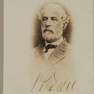 CIVIL WAR ROBERT E. LEE CABINET PHOTOGRAPH