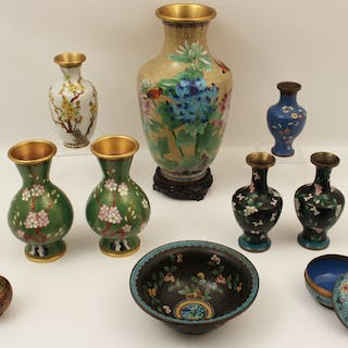 10 PC. MISC. LOT OF CLOISONNE