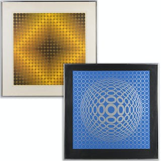 Victor Vasarely, screen print and poster