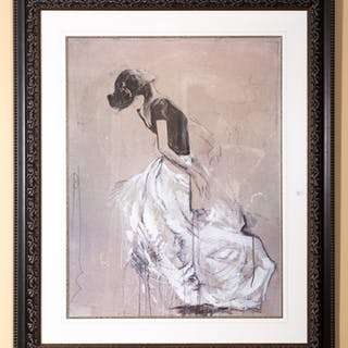 Large Framed Print of a Flamenco Dancer