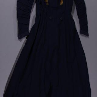 EDWARDIAN NAVY BLUE DRESS