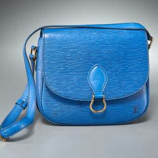 Louis Vuitton Myrtille blue epi leather handbag