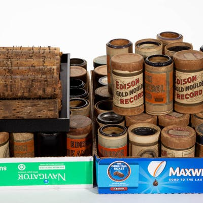 ASSORTED EDISON STANDARD CYLINDERS, UNCOUNTED LOT