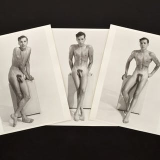3 Large Bruce Bellas Nude Male Physique Photos - Bruce Bellas (1909-1974)