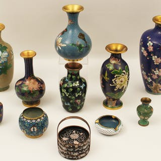 11 PC. MISC. LOT OF CLOISONNE