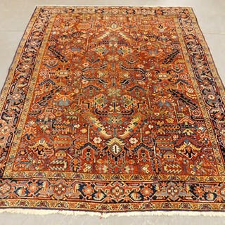 Middle Eastern Oriental Geometric Carpet Rug