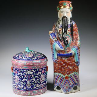 (2) CHINESE PORCELAIN ACCESSORIES