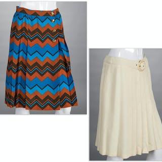Ladies Valentino & Yves Saint Laurent skirts