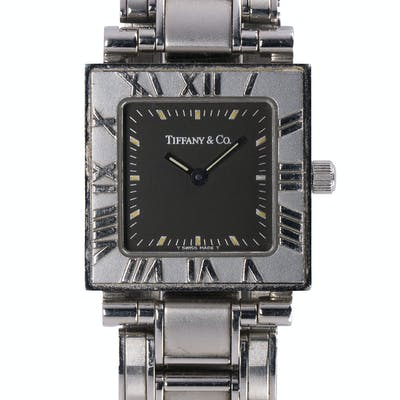 Lady's Tiffany & Co., Atlas stainless steel wristwatch
