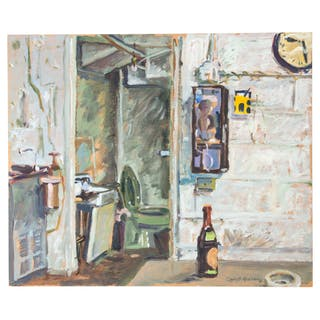 Robert Graham. Study of an Interior, Acrylic