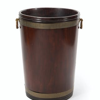An English mahogany cistern