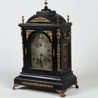 ENGLISH BRONZE MTD. BRACKET CLOCK