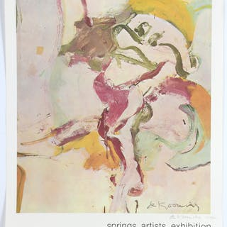 Willem de Kooning, signed poster