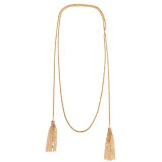 A Ladies Diamond Cap Tassel Necklace in 18K