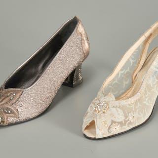 (2) pairs of Fernando Pensato ladies evening heels