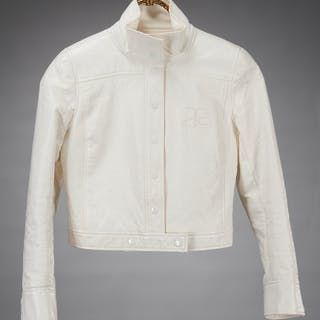 Andre Courreges crop white jacket