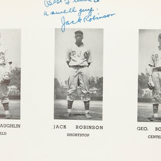A Jackie Robinson-signed Pasadena Junior College yearbook