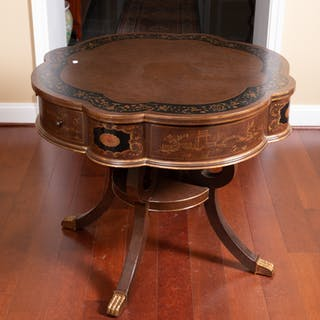 Chinoiserie Scalloped Edge Center Table