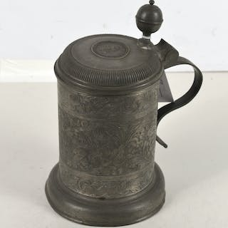 Continental pewter tankard dated 1754