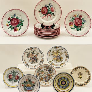 19 PC. LOT OF FRENCH FAIENCE