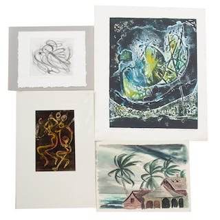 Ina Helrich. Four Assorted Works on Paper