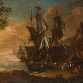 Attributed to Claude-Joseph Vernet (1714-1789 French)