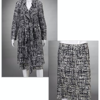 Escada open work skirt & coat