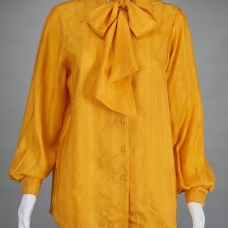 Hermes Paris ladies silk blouse