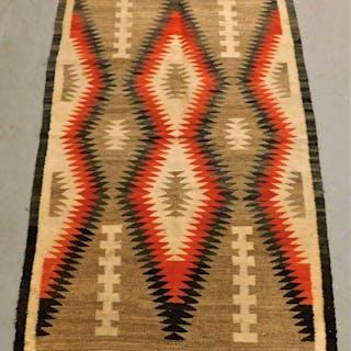 Navajo Native American Geometric Woven Carpet Rug