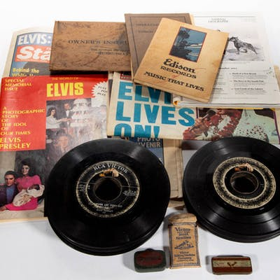 ELVIS PRESLEY RECORDS AND EPHEMERA