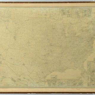 Large Cleartype County-Town U.S. map