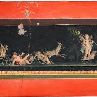 Bisogno, Pompeii gouache painting
