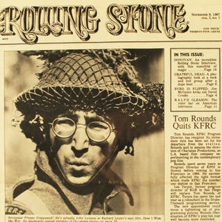 1ST ISSUE OF ROLLING STONE MAGAZINE