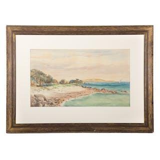 Edward Clarke Cabot. Shore by the Lake