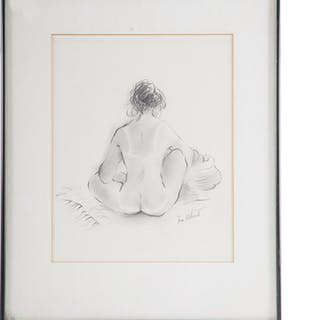 Ina Helrich. Seated Nude