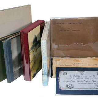 (8) FOLIO SIZED BOOKS ON ART, ARCHITECTURE, HISTORY & MARITIME DESIGN