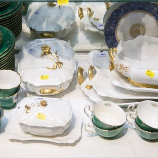 Assortment of Limoges Dinner China