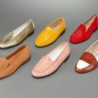 Group of ladies loafers