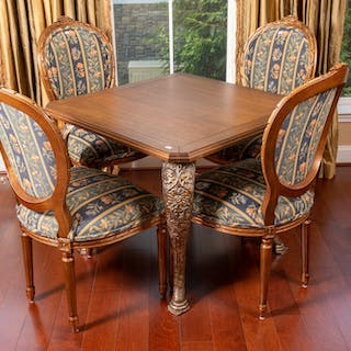 Four Louis XVI Style Side Chairs, Andre Original