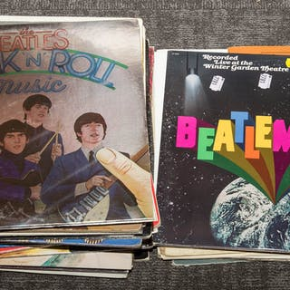Group of Beatles Records