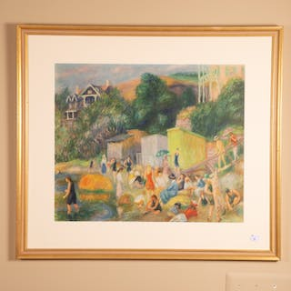 Framed Print of Bathers