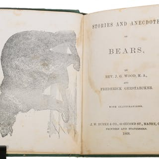 X-RARE POST CIVIL WAR SOUTHERN BOOK ON BEARS