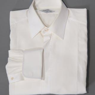 Hermes men's bespoke tuxedo shirt