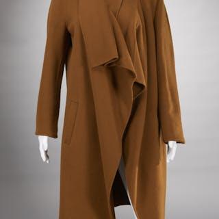 Donna Karan olive green cashmere ladies coat