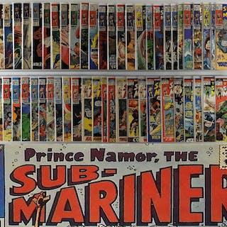 56PC Marvel Comics Sub-Mariner #1-72 Partial Run