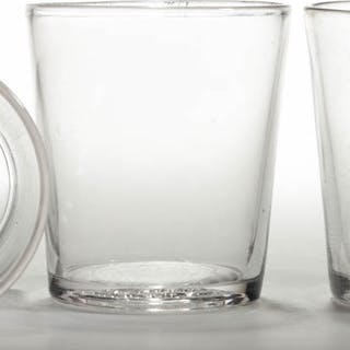 PRESSED COIN BASE TUMBLERS, LOT OF THREE