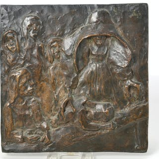 Ernst Barlach (manner of), bronze relief