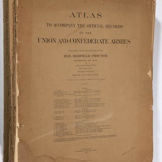 CIVIL WAR CONFEDERATE AND UNION ATLAS