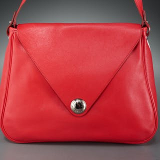 Hermes Christine shoulder bag in rouge