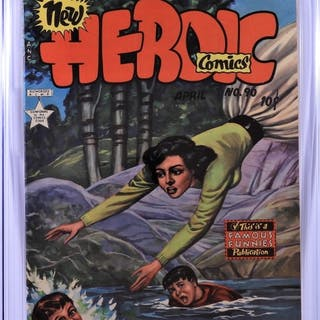 Eastern Color Heroic Comics #90 CGC 6.0